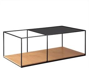 Mesa de Centro Square 90cm Aço Preto/Marfim - Gran Belo