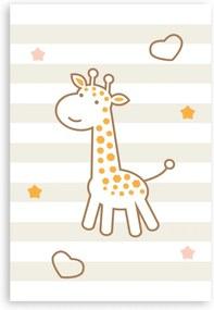 Placa Decorativa MDF Infantil Hipopótamo Quartinhos 20x30cm Marrom