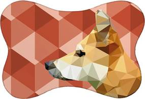 Tapete PET Cachorro Vermelho 46x33cm