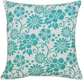 Capa de Almofada Flor Azul Claro 45x45