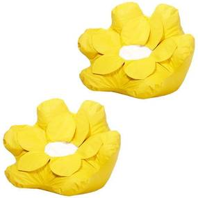 Kit 2 Puffs Flower Nobre Amarelo - Stay Puff