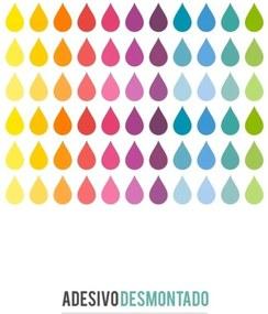 Adesivo Decohouse De Parede Gotas Multicolorido