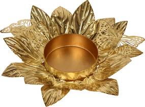 Castiçal de Metal Golden Flower II