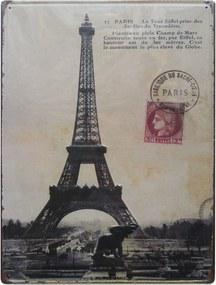 Placa  De Metal Paris 41X31Cm Kasa Ideia