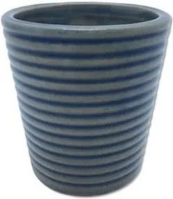 Cachepot Kurbeti em Cerâmica 8cm - Azul Claro