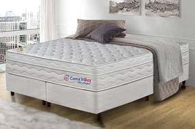 Conjunto Cama Box King Molas Ensacadas Com Espuma Viscoelástico Cama Inbox Wonderful 193x203x71