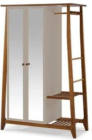 Armario Multiuso Stoka 2 Portas Bege Estrutura Amendoa 169cm - 60965 Sun House
