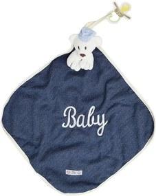 Toalha de Boca Blanket Cetim - Ursinho Baby Jeans - Zip Toys