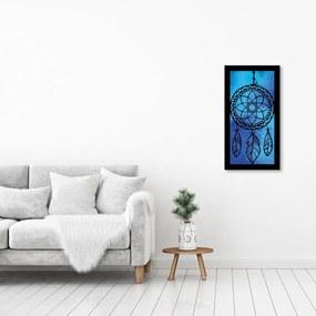 Quadro Alto Relevo Apanhador Sonhos Azul40x75cm