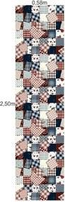 Papel De Parede Adesivo Patchwork Retalhos (0,58m x 2,50m)