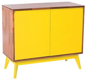 Buffet Roma 2 Portas Amarelo - Wood Prime MP 1041594
