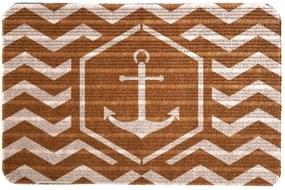 Capacho Carpet Âncora Marrom Único Love Decor