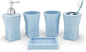 Kit de Banheiro Lifestyle - 5 Peças - Azul - Jack Design