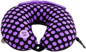 Almofada Massageadora para Pescoço Peskokeshi Poás Roxos - 38x28 cm