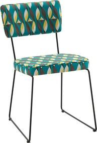 Cadeira Roma Aço Tecido Daf Colorido Verde