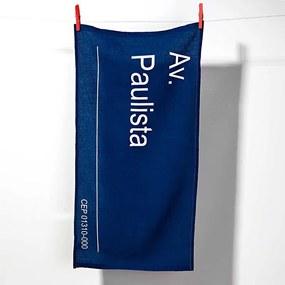 Pano de Prato Placa SP Av. Paulista