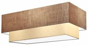 Plafon Para Banheiro Retangular SB-3071 Cúpula Cor Palha Bege