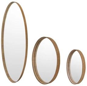 Conjunto 3 Espelhos Oval Xian - FT 46066