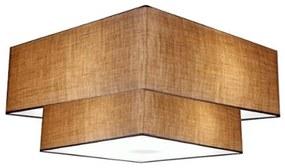 Plafon Duplo Quadrado Md-3022 Cúpula em Tecido 25/50x35cm Palha / Palha - Bivolt