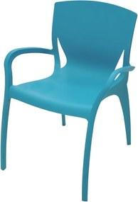 Cadeira Clarice com Braços Azul Claro Summa - Tramontina
