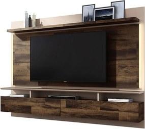 "Painel Home Suspenso para TV até 60"" Sala de Estar Beatles Deck/Off White - Gran Belo"