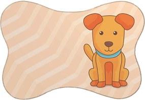 Tapete Mdecore PET Cachorro Laranja 46x33cm