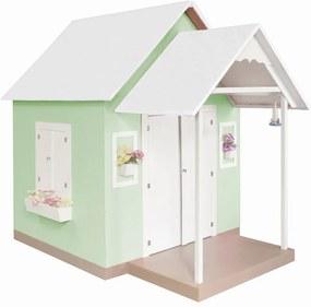 Casinha de Brinquedo com Telhado Branco/Verde - Criança Feliz