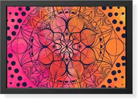 Quadro Love Decor Decorativo com Moldura Mandala Color