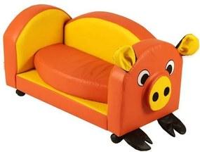 Puff Infantil Pig Nobre Amarelo/Laranja - Stay Puff