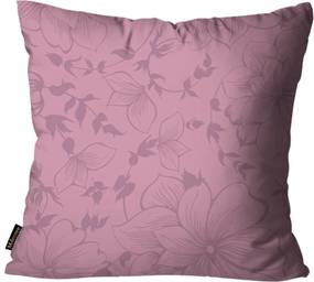 Almofada Premium Cetim Mdecore Floral Roxa 45x45cm