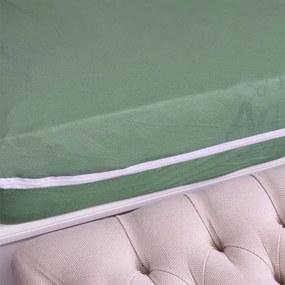 Capa Para Colchão Em Malha Solteiro - Sonhos & Anjos - Verde Eucalipto - Sulbrasil