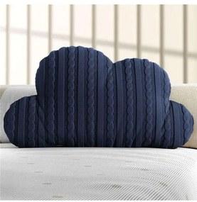 Almofada Azul Marinho Nuvem Tricot Grão de Gente A