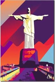 Quadro Decorativo Cristo Redentor Rio de Janeiro