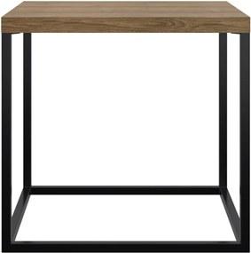 Mesa Cube M Artesano Marrom/Preta
