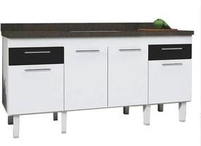 Gabinete para Cozinha em MDF 2m Preto - Gaivota - Cozimax - Cozimax