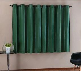 Cortina DOURADOS ENXOVAIS Blackout PVC Verde Corta Luz 2,20m X 1,30m