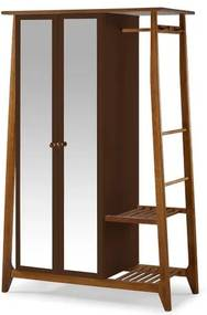 Armario Multiuso Stoka 2 Portas Marrom Estrutura Amendoa 169cm - 60971 Sun House