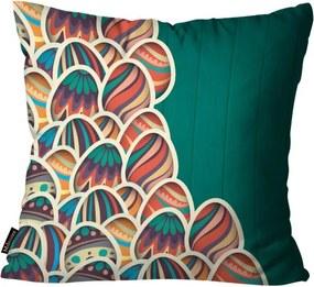 Capa para Almofada de Páscoa Ovos Verde45x45cm