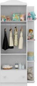 Guarda-roupa Clara C/ 2 Portas Branco Premium / Colorido Flex