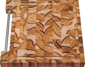 Tábua Quadrada Churrasco Madeira Invertida Teca 30cm Tramontina