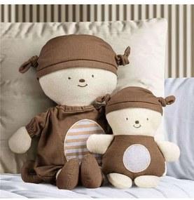 Bonecos Nózinho Mamãe e Bebê Macaquinho Grão de Ge