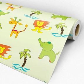 Papel de parede adesivo animal zoo