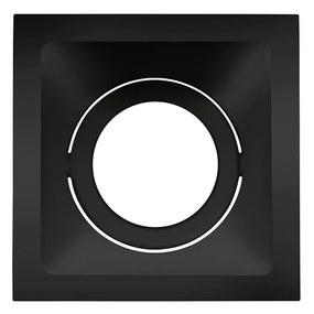 Plafon Embutir Aluminio Preto 11,2cm