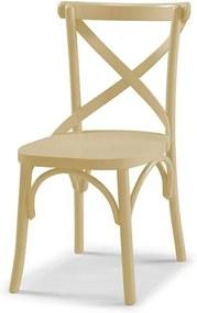 Cadeira Cenni em Madeira Maciça - Bege