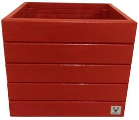 Vaso Madeira Cachepot ALCE COUCH Vermelho 36X40X40