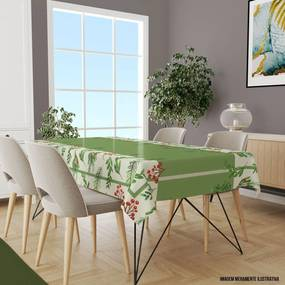 Toalha de Mesa Retangular 10-12 Lugares Folhas 1,45m x 3,20m Único