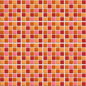 Adesivo para Azulejo Pastilha 3D Vermelho - 20x20cm - 16 peças