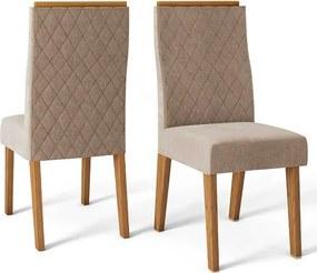 Conjunto 2 Cadeiras Cássia Carvalho Nobre Tecido Veludo Kraft