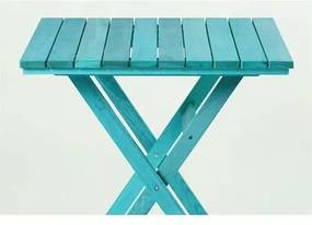 Mesa Dobrável Boteco Stain Azul - Mão & Formão