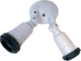 Spot Duplo Branco Policarbonato E27 - UPZ - 5800BR